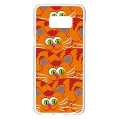 Animals Pet Cats Mammal Cartoon Samsung Galaxy S8 Plus White Seamless Case by BangZart