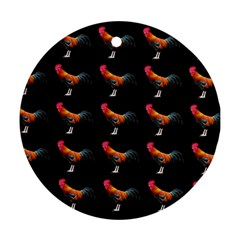 Background Pattern Chicken Fowl Ornament (round)