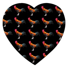 Background Pattern Chicken Fowl Jigsaw Puzzle (heart)