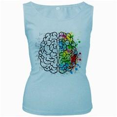 Brain Mind Psychology Idea Hearts Women s Baby Blue Tank Top