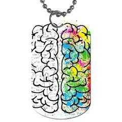 Brain Mind Psychology Idea Hearts Dog Tag (one Side)