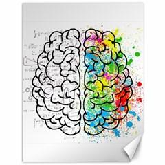 Brain Mind Psychology Idea Hearts Canvas 36  X 48   by BangZart