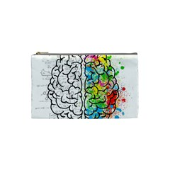 Brain Mind Psychology Idea Hearts Cosmetic Bag (small)