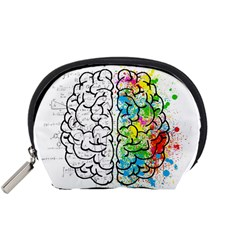Brain Mind Psychology Idea Hearts Accessory Pouches (small)