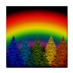 Christmas Colorful Rainbow Colors Tile Coasters
