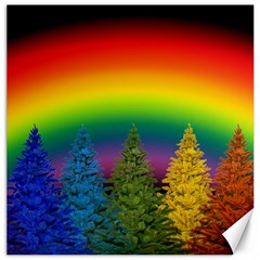 Christmas Colorful Rainbow Colors Canvas 12  X 12