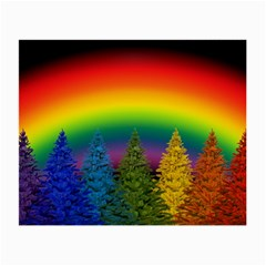 Christmas Colorful Rainbow Colors Small Glasses Cloth (2 Side) by BangZart