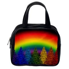 Christmas Colorful Rainbow Colors Classic Handbags (one Side)