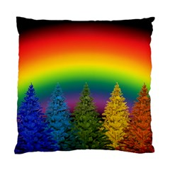 Christmas Colorful Rainbow Colors Standard Cushion Case (one Side)
