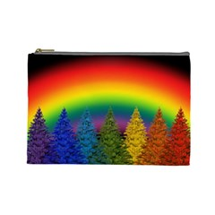 Christmas Colorful Rainbow Colors Cosmetic Bag (large)  by BangZart