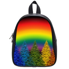 Christmas Colorful Rainbow Colors School Bag (small)