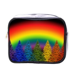 Christmas Colorful Rainbow Colors Mini Toiletries Bags by BangZart