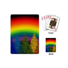 Christmas Colorful Rainbow Colors Playing Cards (mini)