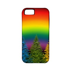 Christmas Colorful Rainbow Colors Apple Iphone 5 Classic Hardshell Case (pc+silicone) by BangZart