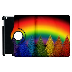 Christmas Colorful Rainbow Colors Apple Ipad 2 Flip 360 Case by BangZart