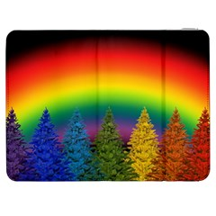 Christmas Colorful Rainbow Colors Samsung Galaxy Tab 7  P1000 Flip Case