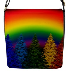 Christmas Colorful Rainbow Colors Flap Messenger Bag (s) by BangZart
