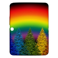 Christmas Colorful Rainbow Colors Samsung Galaxy Tab 3 (10 1 ) P5200 Hardshell Case