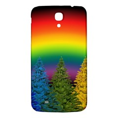Christmas Colorful Rainbow Colors Samsung Galaxy Mega I9200 Hardshell Back Case