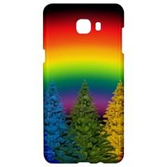 Christmas Colorful Rainbow Colors Samsung C9 Pro Hardshell Case