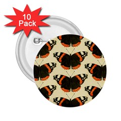 Butterfly Butterflies Insects 2 25  Buttons (10 Pack)
