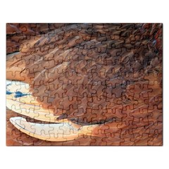 Feather Chicken Close Up Red Rectangular Jigsaw Puzzl by BangZart