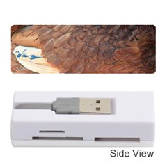 Feather Chicken Close Up Red Memory Card Reader (stick)