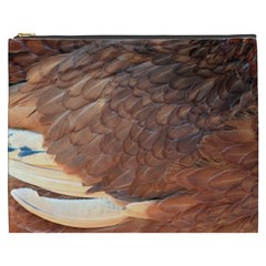 Feather Chicken Close Up Red Cosmetic Bag (xxxl)  by BangZart