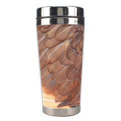 Feather Chicken Close Up Red Stainless Steel Travel Tumblers