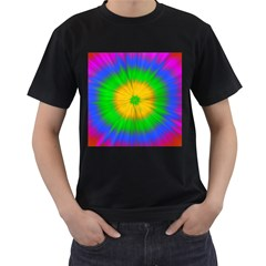 Spot Explosion Star Experiment Men s T Shirt (black) (two Sided)