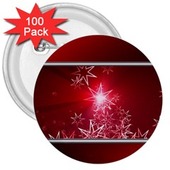 Christmas Candles Christmas Card 3  Buttons (100 Pack)