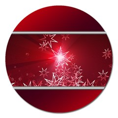 Christmas Candles Christmas Card Magnet 5  (round)