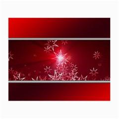 Christmas Candles Christmas Card Small Glasses Cloth