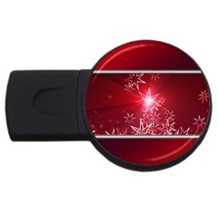 Christmas Candles Christmas Card Usb Flash Drive Round (4 Gb)