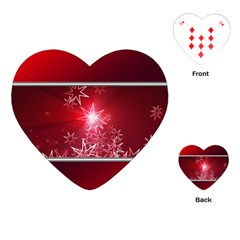 Christmas Candles Christmas Card Playing Cards (heart)