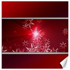 Christmas Candles Christmas Card Canvas 16  X 16