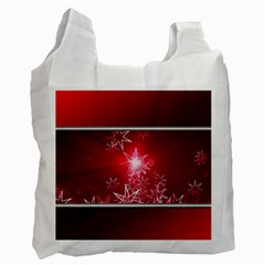 Christmas Candles Christmas Card Recycle Bag (one Side) by BangZart