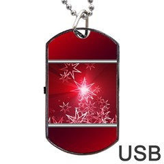 Christmas Candles Christmas Card Dog Tag Usb Flash (one Side) by BangZart