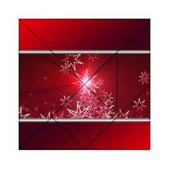 Christmas Candles Christmas Card Acrylic Tangram Puzzle (6  X 6 )