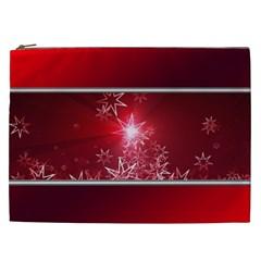Christmas Candles Christmas Card Cosmetic Bag (xxl)