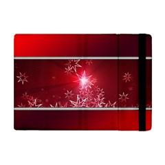 Christmas Candles Christmas Card Apple Ipad Mini Flip Case by BangZart