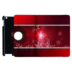 Christmas Candles Christmas Card Apple Ipad 3/4 Flip 360 Case by BangZart