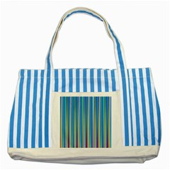 Colorful Color Arrangement Striped Blue Tote Bag