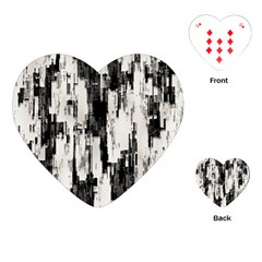 Pattern Structure Background Dirty Playing Cards (heart)  by BangZart