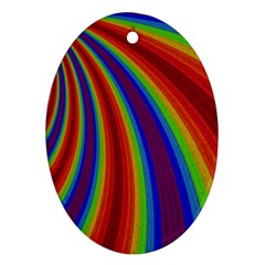 Abstract Pattern Lines Wave Ornament (oval) by BangZart
