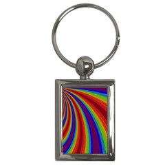 Abstract Pattern Lines Wave Key Chains (rectangle)