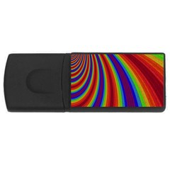 Abstract Pattern Lines Wave Rectangular Usb Flash Drive