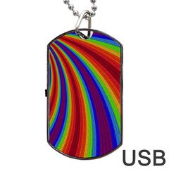Abstract Pattern Lines Wave Dog Tag Usb Flash (one Side)