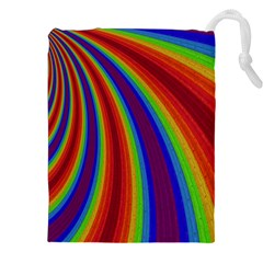 Abstract Pattern Lines Wave Drawstring Pouches (xxl)