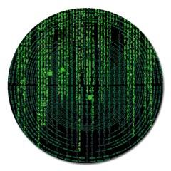Matrix Communication Software Pc Magnet 5  (round)